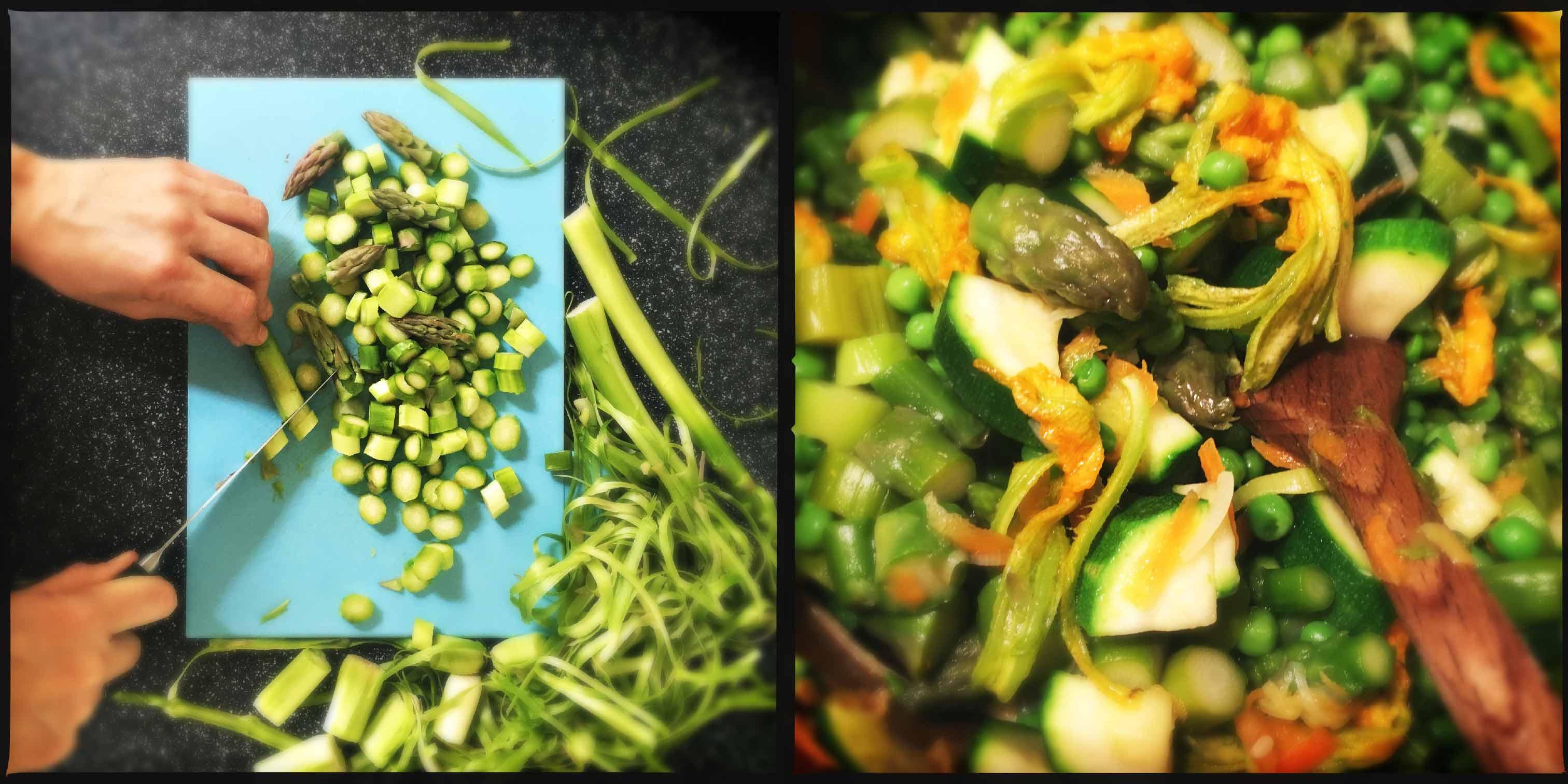 Lasagne allo zafferano con verdure