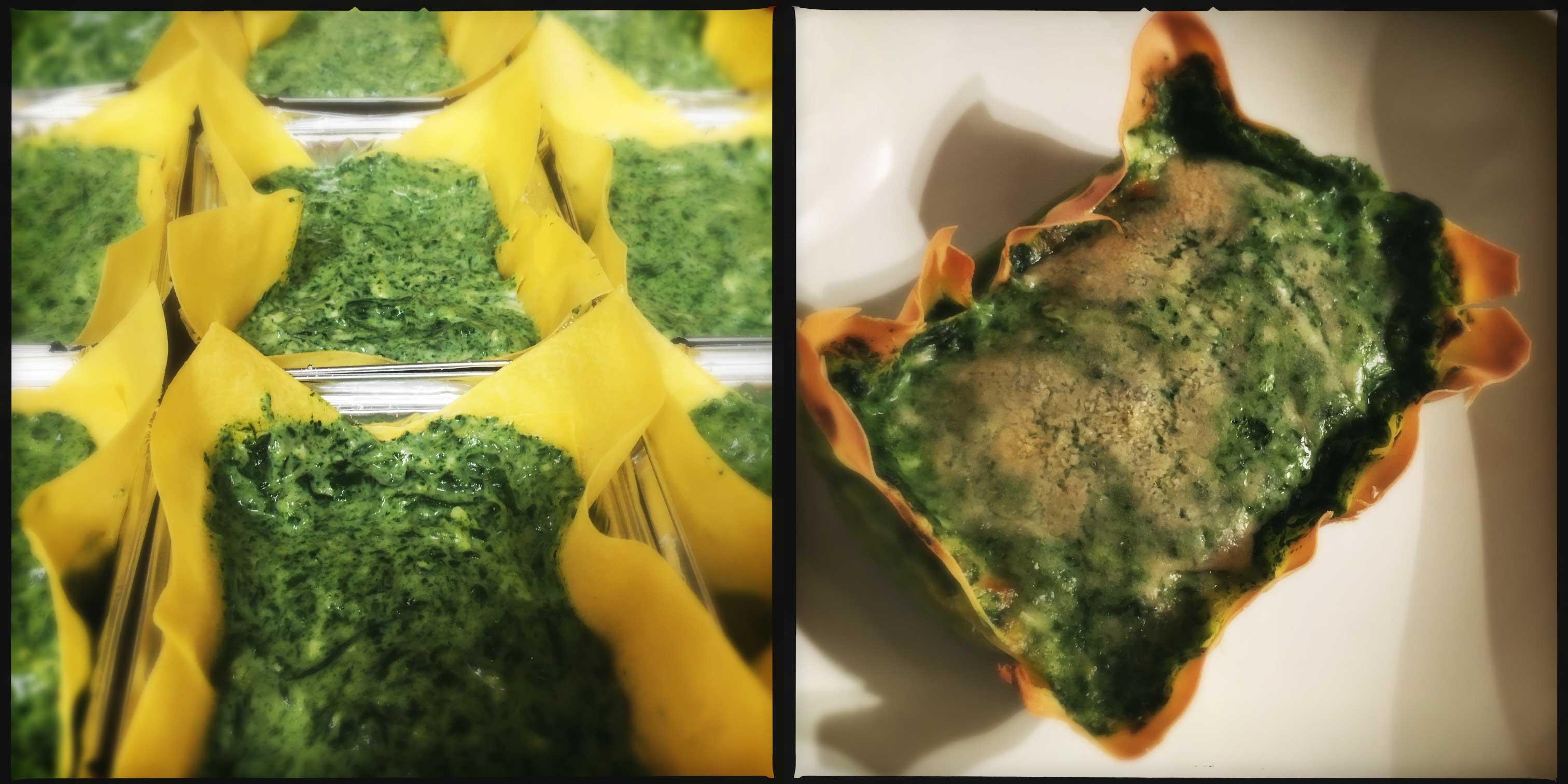 Lasagne agli spinaci e limone