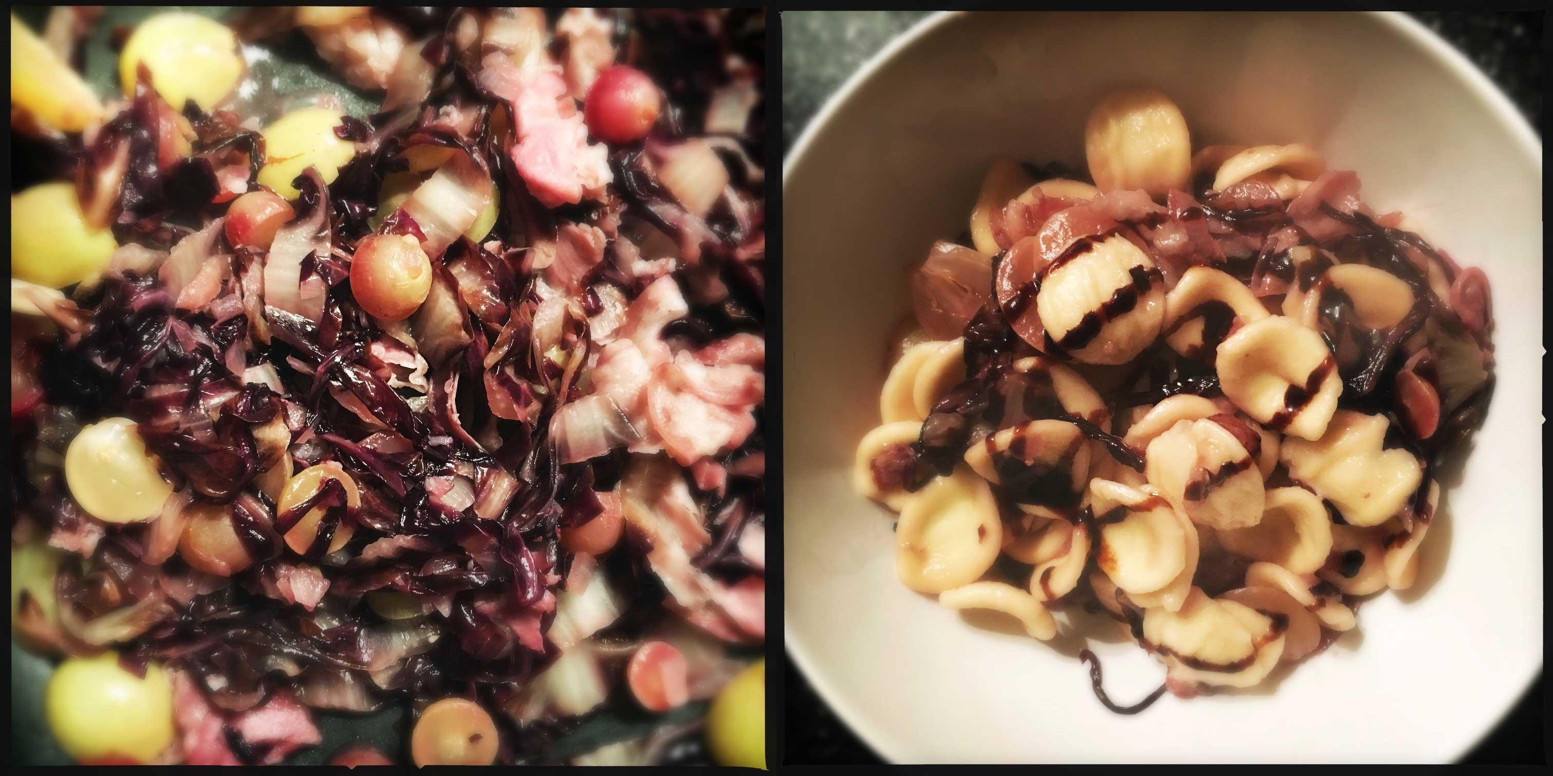 ORECCHIETTE uva radiccio pancetta balsamico
