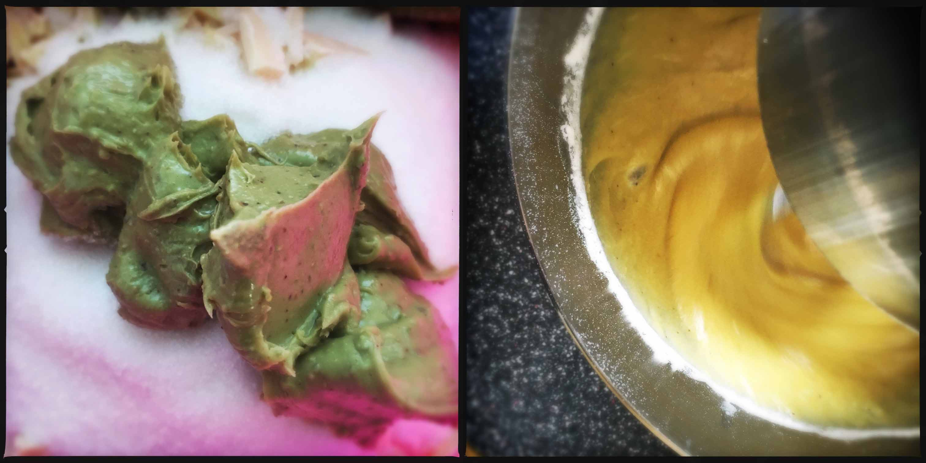 tortino pistacchio con lamponi