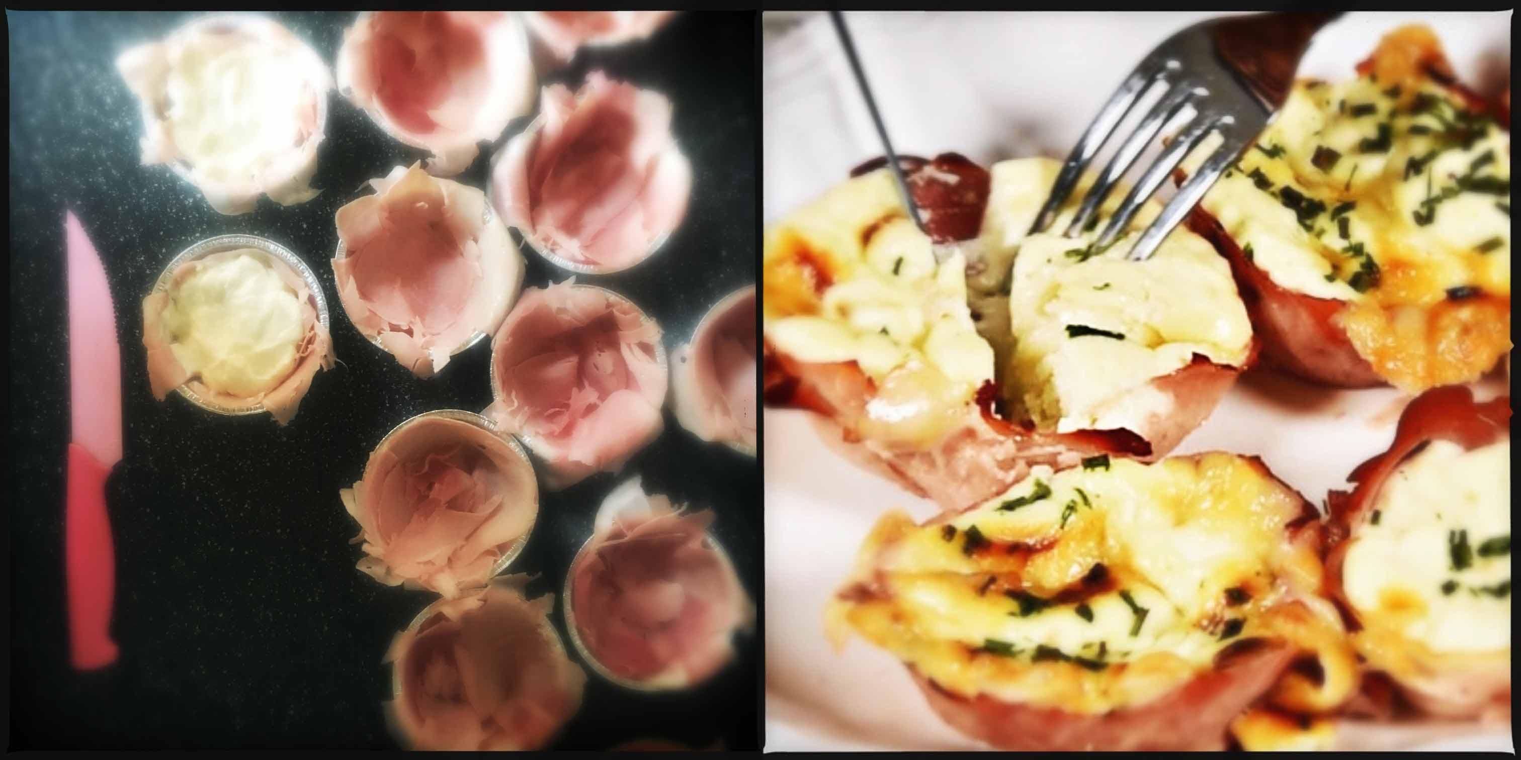 Nidi di prosciutto e formaggio