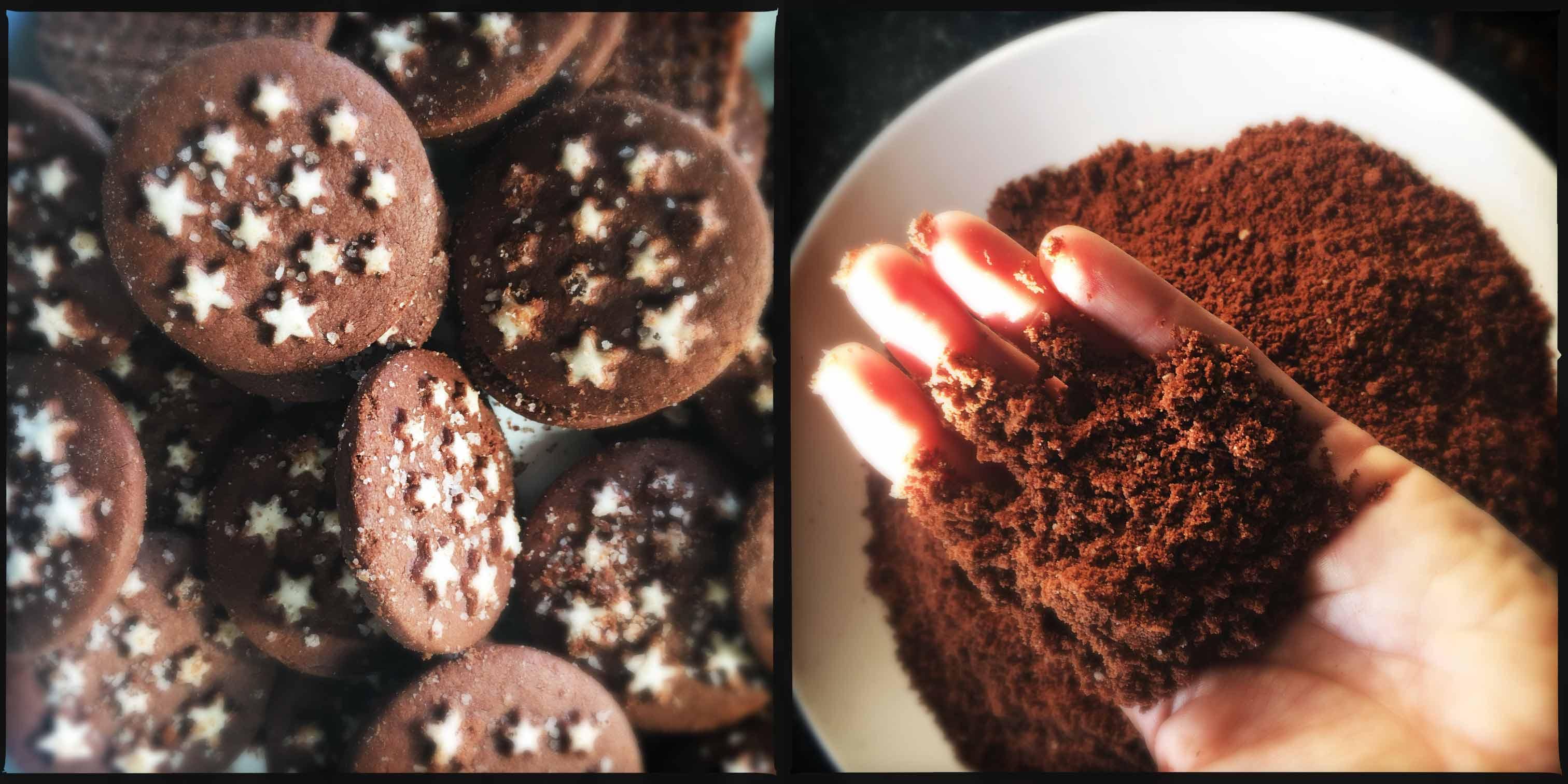 Cheesecake al cioccolato bianco e mirtilli al basilico