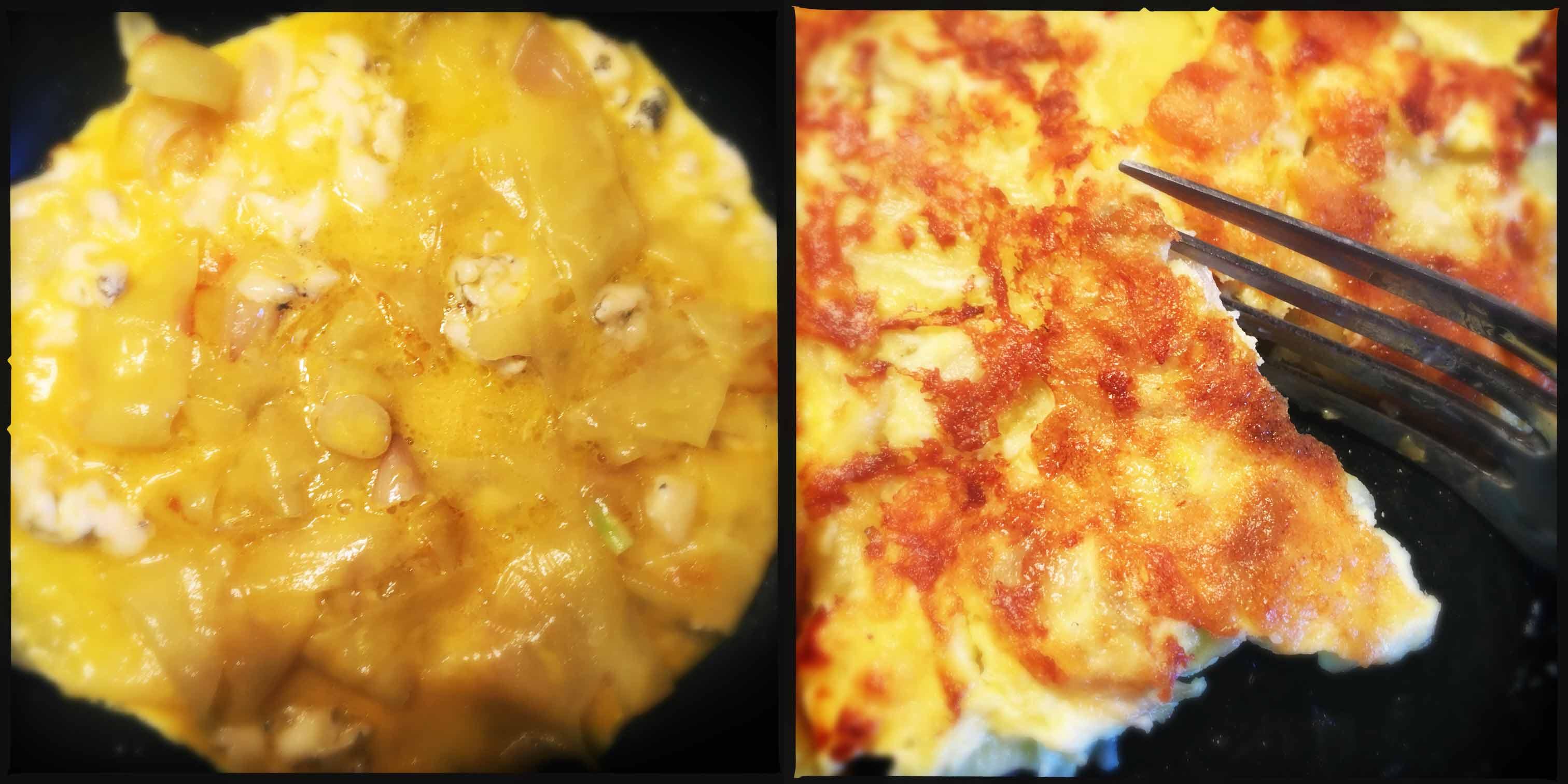 frittata gorgonzola patata scalogno