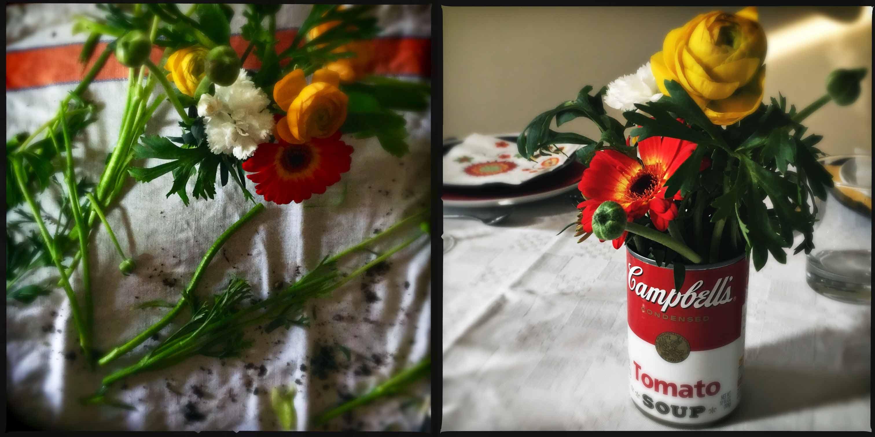 Marzo, tavola e mise en place per un pranzo tra amici